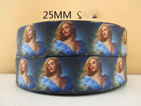1 METRE CINDERELLA THE MOVIE CLOSE UP RIBBON SIZE 1 INCH BOW HEADBANDS CAKE CARD MAKING